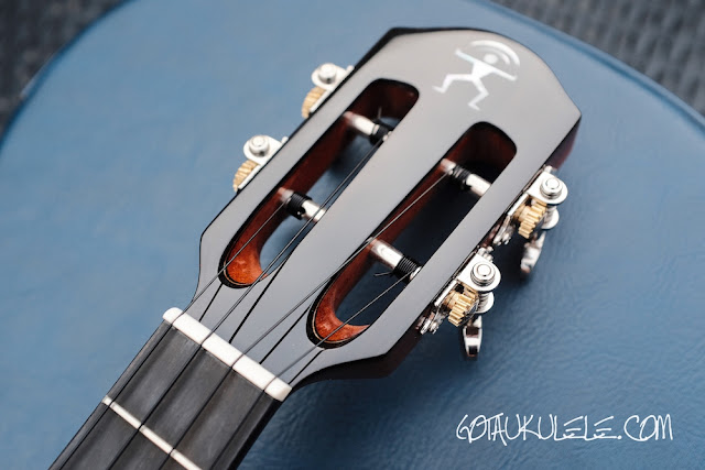 aNueNue Light Bird Tenor Ukulele headstock