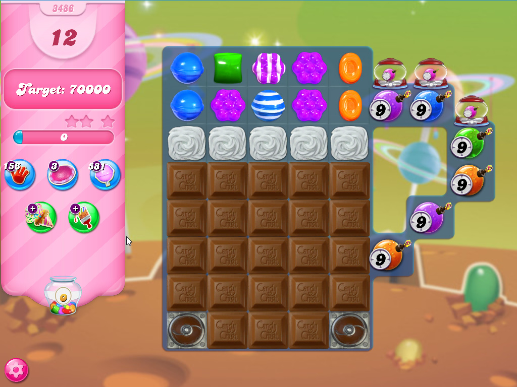 Candy Crush Saga level 3486