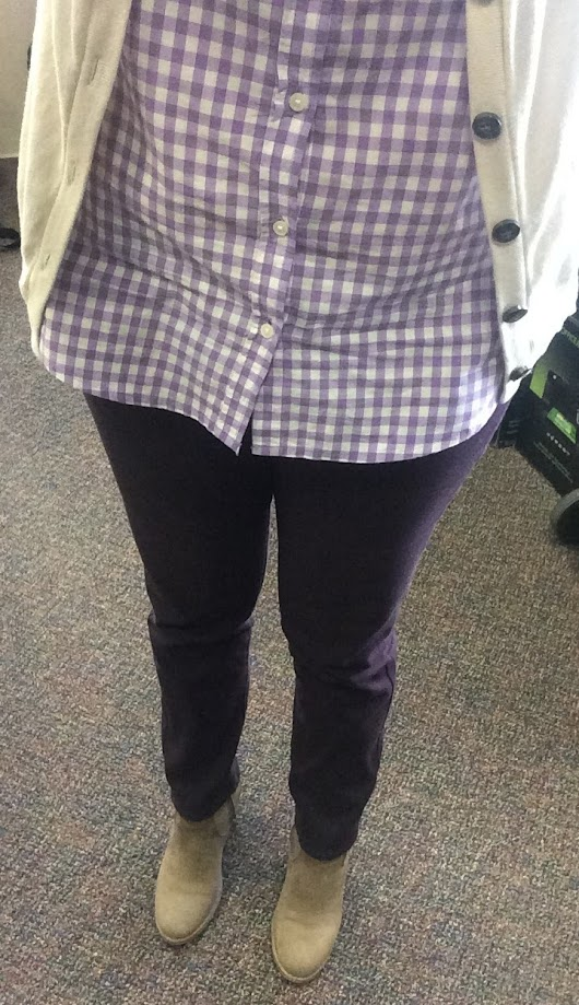 Recent Outfit - Purple Gingham