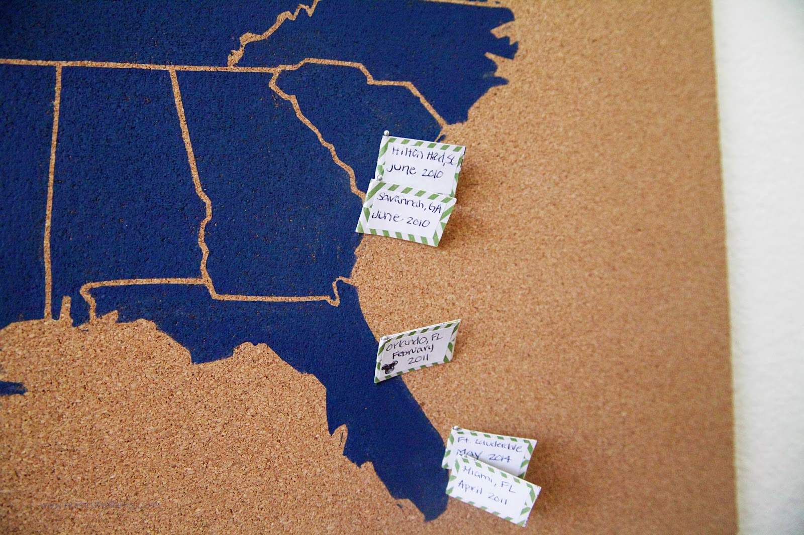 Us Map On Cork Board.Usa Cork Board Map