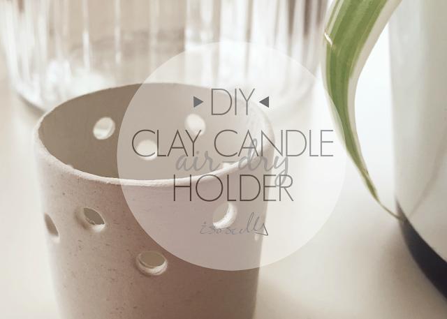 Diy Air-dry Clay Candle Holder Header