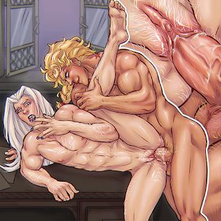 jojo's bizarre adventure jojo no kimyou na bouken porn nsfw art gay trans vento aureo girno giovanna leone abbacchio