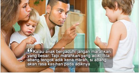 Kalau Anak-Anak Kita Bergaduh, Jangan Marahkan Yang Besar
