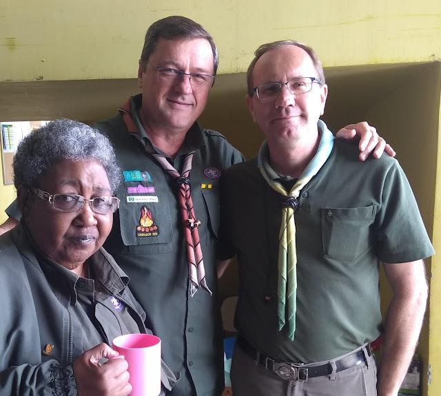Chefe Neide Guimarães, Chefe Renato Breneizer e chefe Alexandre Banchi atual diretor presidente da Região escoteira São Paulo