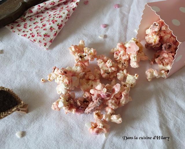 Pop corn gourmand (et rose!) de Cupidon - Dans la cuisine d'Hilary