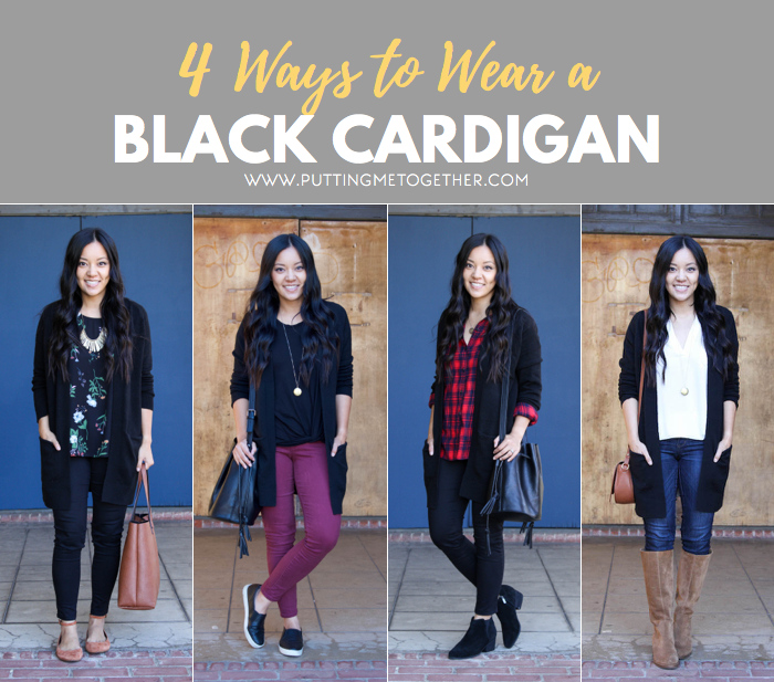 4 Outfits With a Black Cardigan