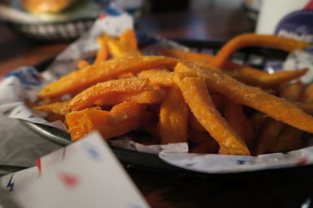 Sweet potato fries at the Diner, Camden