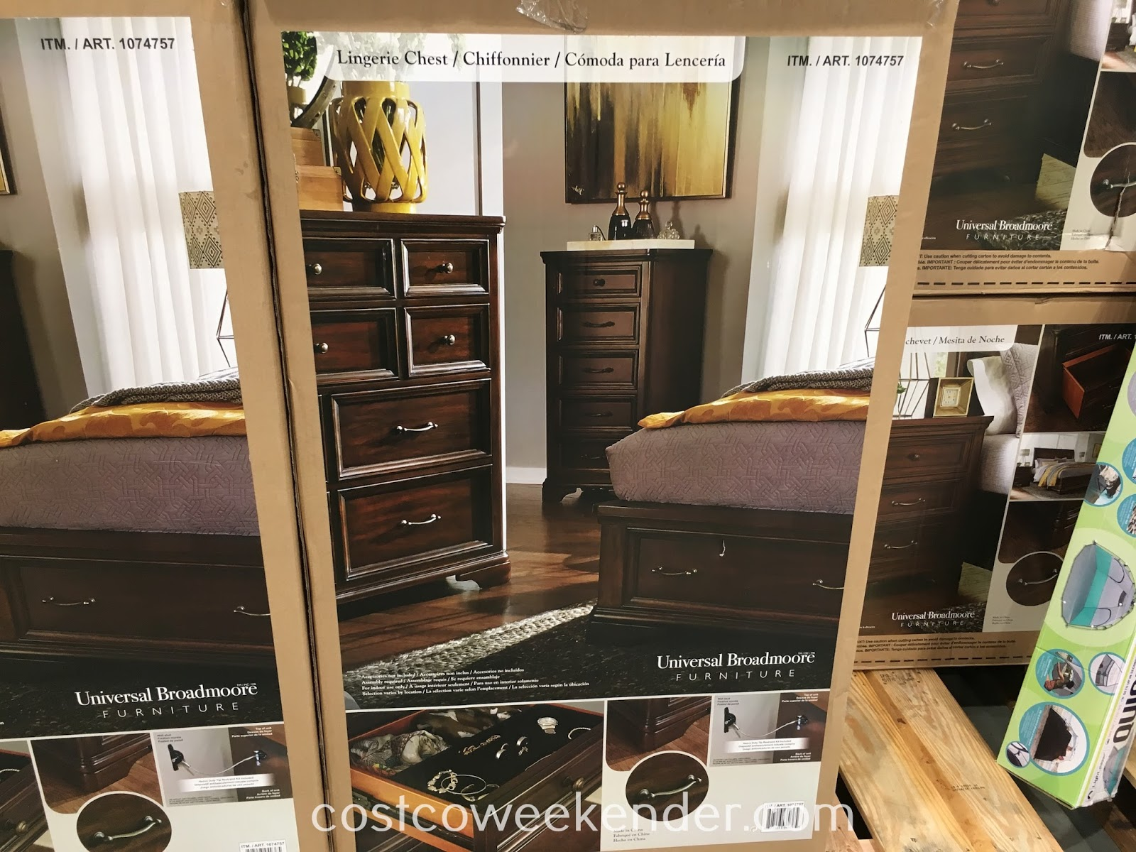 Have a good place to put your clothing away with the Universal Broadmoore Furniture Lingerie Chest