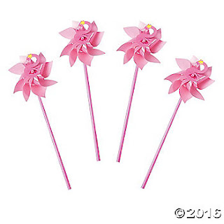 Flamingo Pink Pin Wheels Party Decorations