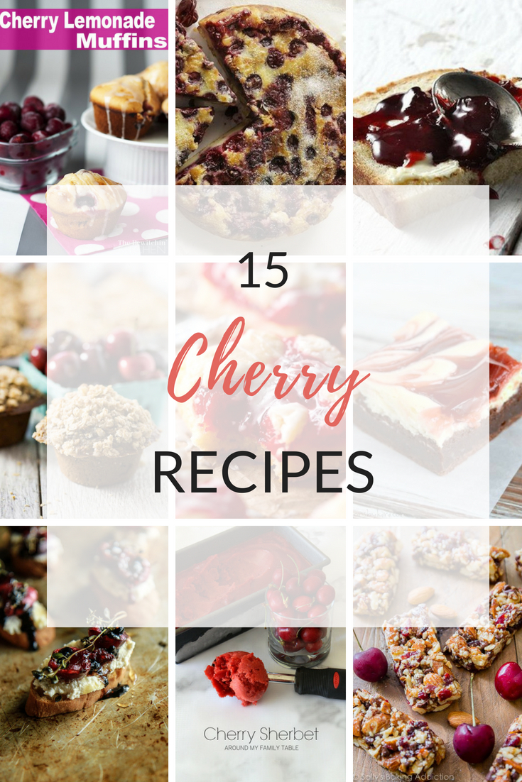 15 Must Make Cherry Recipes: Whether you're looking for jams, drinks, cakes, bars or any kind of dessert, I've got you covered. I even included some savory recipes for you to try!  | Ioanna's Notebook