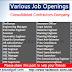 Various Job Openings at Consolidated Contractors Company