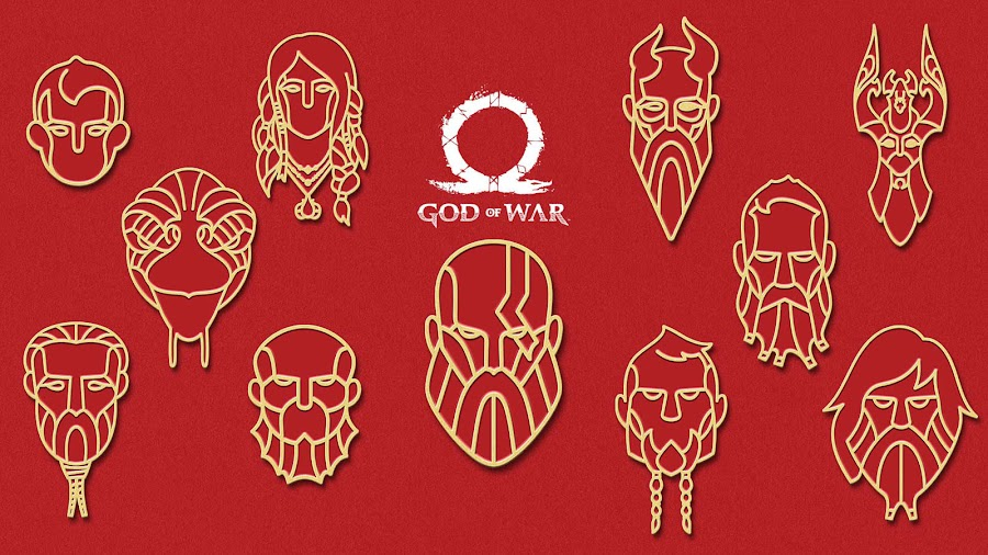 god of war 2018 ps4 character avatar set