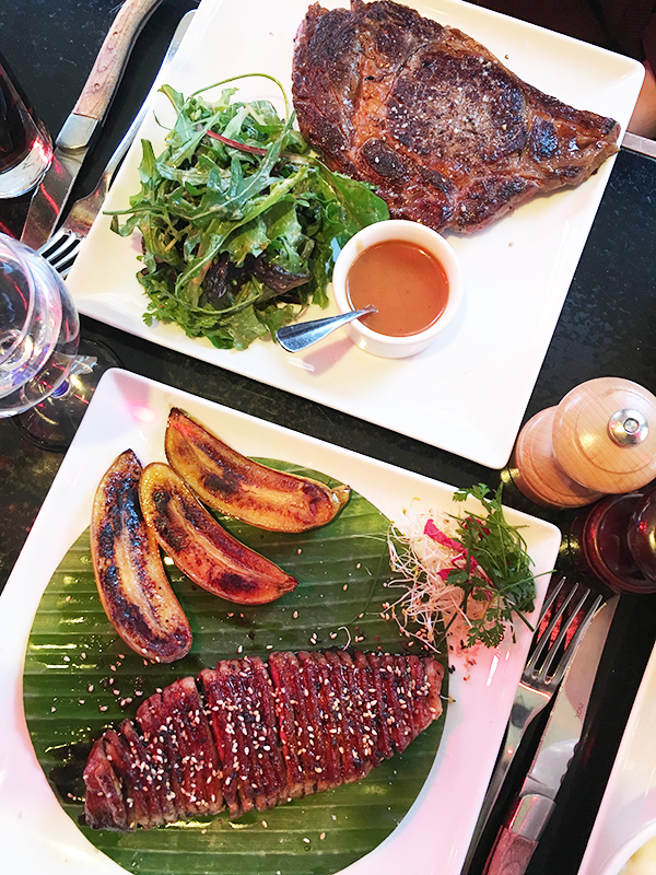 Steak and duck from Le Petit Marche
