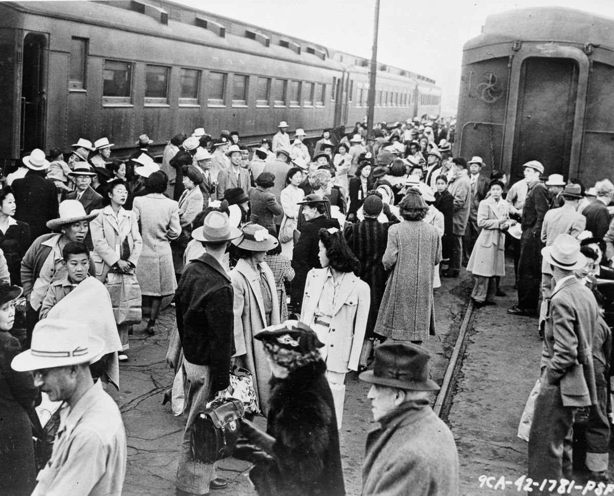 """japanese american wwii """"born in an internment camp for japanese americans, she fears muslims face a   world war ii farm labor camp photography and more,"""" los angeles times."""