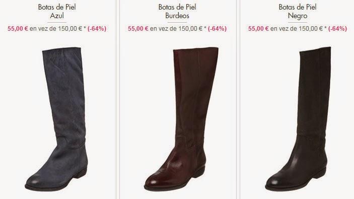 Botas de piel que puedes comprar muy baratas, sólo 55 euros.