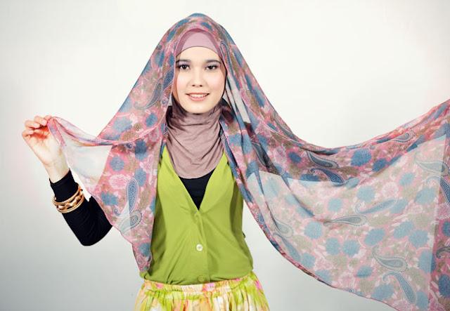 Model Hijab Pashmina Sifon Panjang Murah