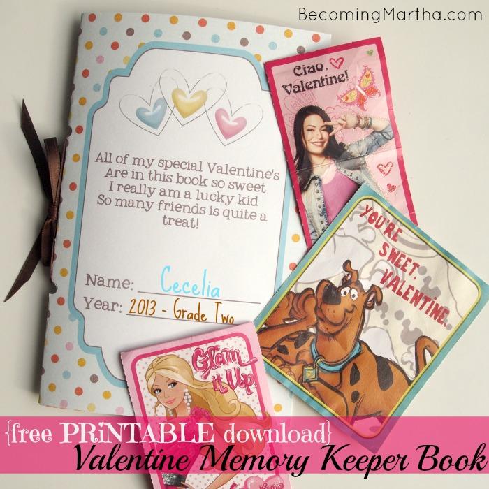 Download {Free Printable} Valentines Keepsake Memory Book - The ...