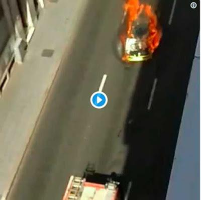 Vídeo incendio coche calle Juan Manuel Durán Las Palmas de  Gran Canaria