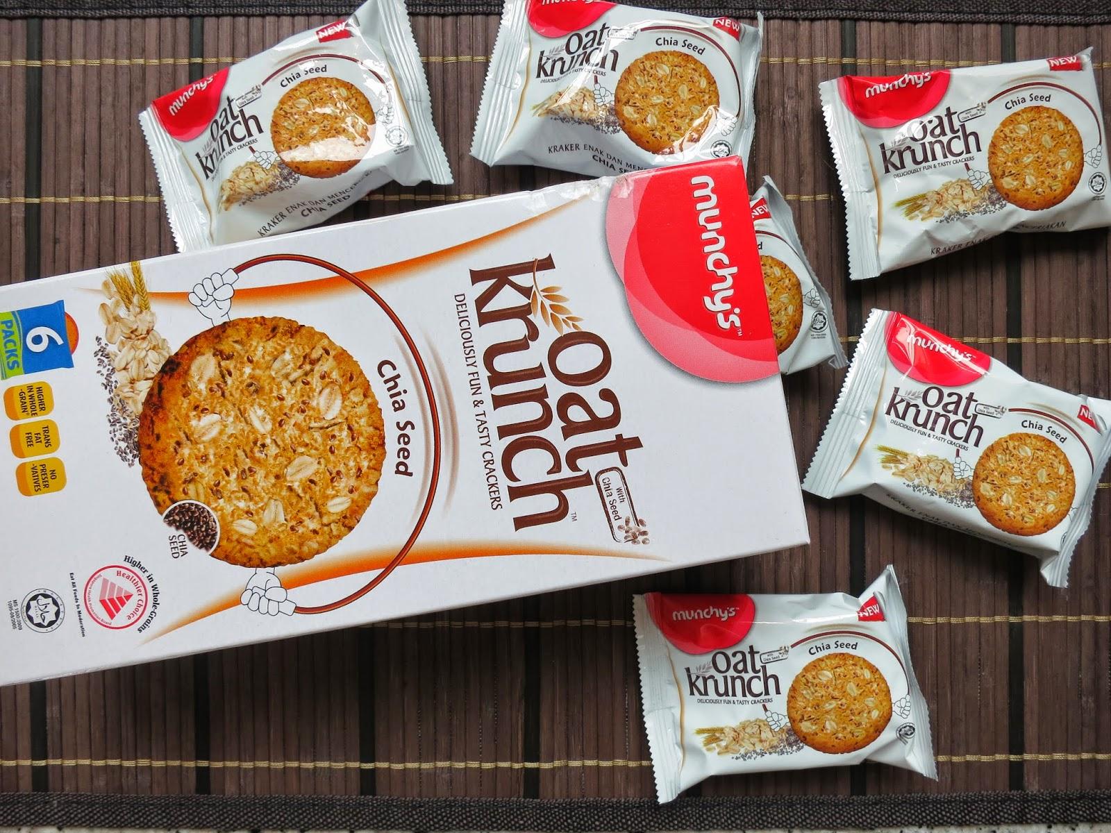 Bekalan Makanan Sihat Untuk Kanak-Kanak Sekolah, Snek sihat, biskut, makanan sihat, oat krunch, biskut oat, biskut berkhasiat, biskut oat krunch