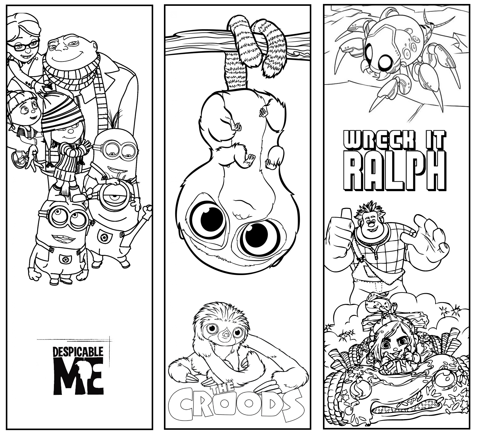 free bookmark coloring pages | Wonderland Crafts: Disney