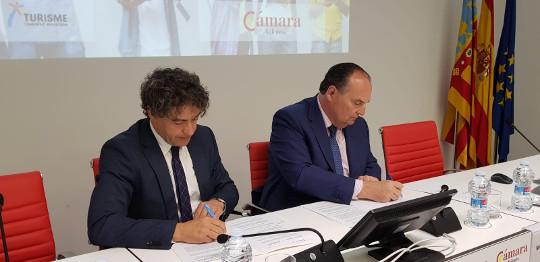 Turisme y el Consejo de Cámaras de la Comunitat Valenciana se alían para fomentar la competitividad turística