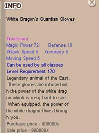 White Dragon's Guardian Glove, Seal Online Blade of Destiny (BoD), Golden Chest Update