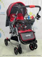 Pliko PK369 Nitro Rocker Standard Baby Stroller-Red