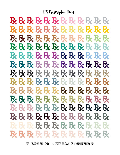RX Printable on myplannerenvy.com