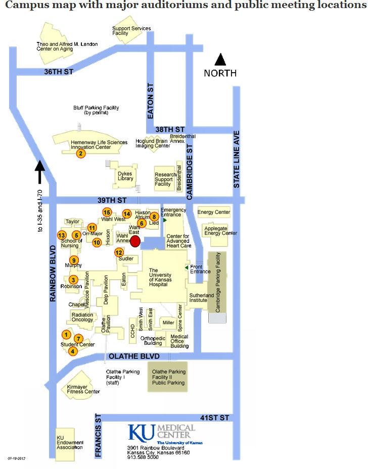 Ku Med Campus Map.Capt Spaulding S World 07 April 2013