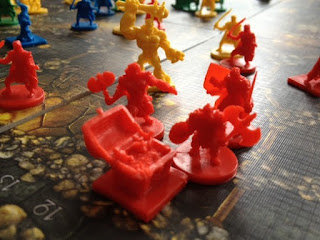 figures from Cave Troll board game