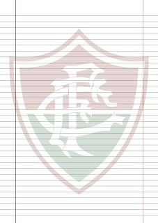 Papel Pautado do Fluminense PDF para imprimir na folha A4