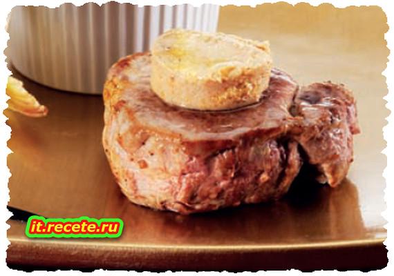 Filetti di maiale al foie gras e riduzione al porto