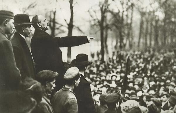 K. Lybknechtas kalba Berlyne, 1918 m.