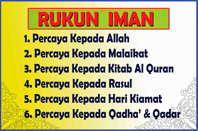 Image result for rukun iman