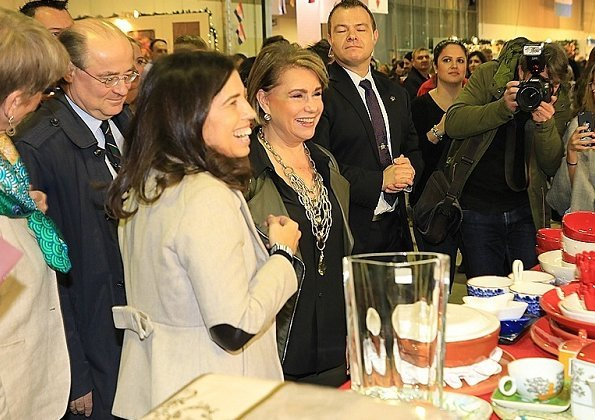 Maria Teresa visited the 58th Bazaar International de Luxembourg at at Luxexpo The Box