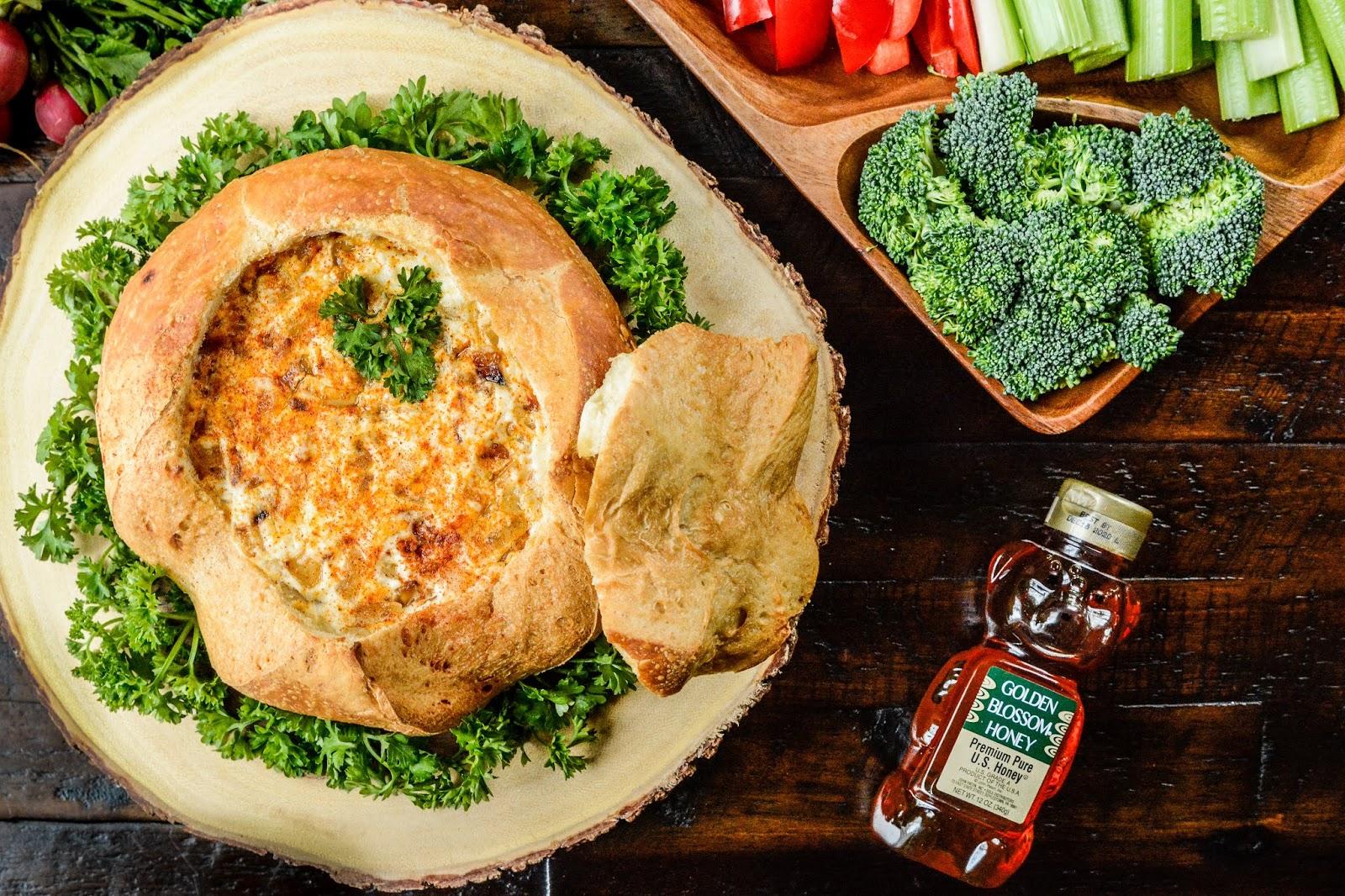 Baked Brie Sourdough Bread Bowl