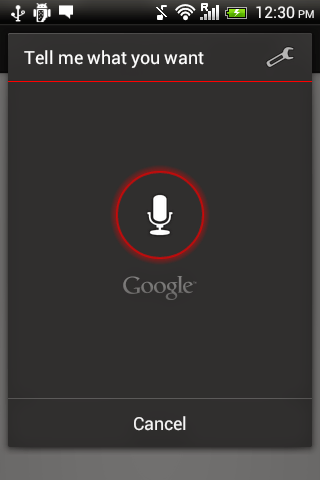 Android java voice recognition