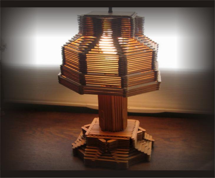 Inilah berbagai aneka kreasi lampu hias terbuat dari stik