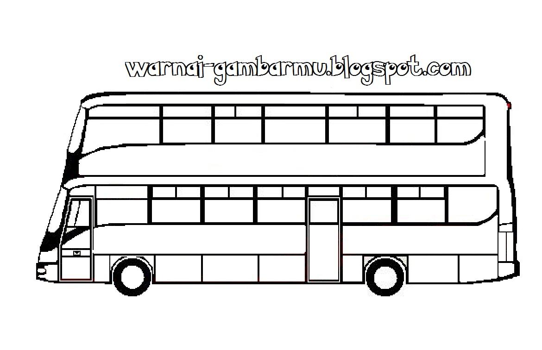 Mewarnai Gambar Bus Mewarnai Gambar