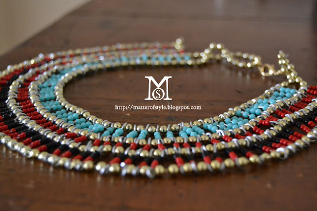 More Egyptian Style Necklace Tutorials The Beading Gems