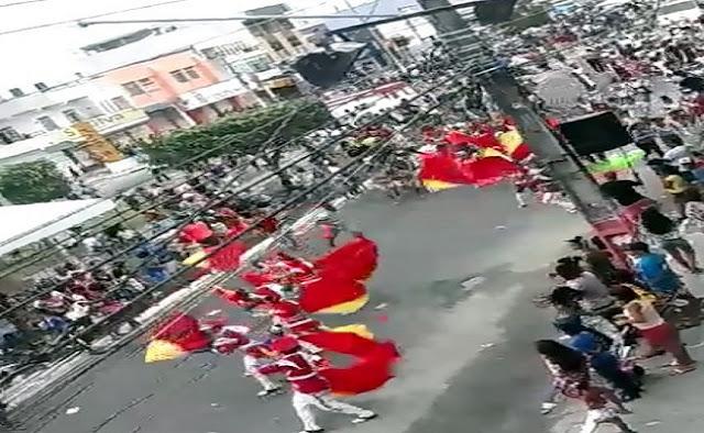 Homem armado provoca correria durante o desfile cívico de N. S. do Socorro