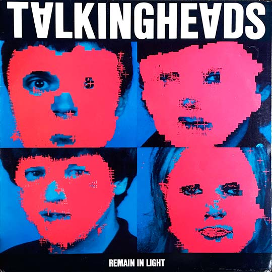 "Carátula frontal de ""Remain In Light"" de los Talking heads, publicado en 1980."