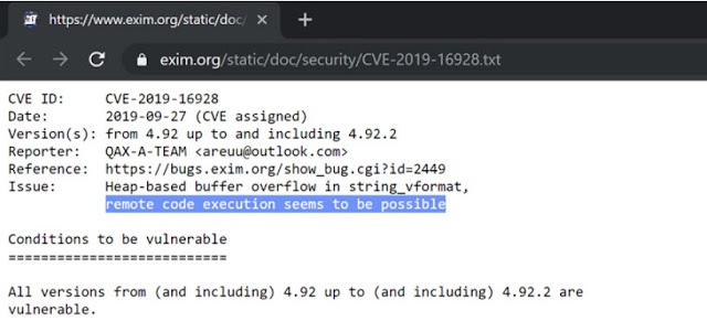 [Cảnh báo] Cập nhật bản vá bảo mật cho máy chủ mail Exim của bạn ngay để vá lỗ hổng bảo mật nghiêm trọng này - CyberSec365.org