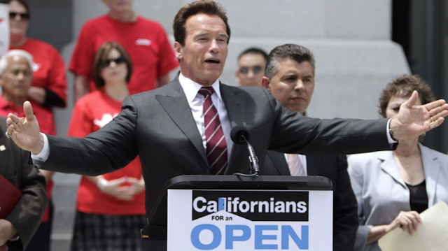 Los Angeles Mayor Garcetti bashes California's top-two primary while Arnold Schwarzenegger wants it to go nationwide