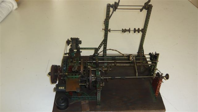 Bobinatrice autocostruita con pezzi del meccano