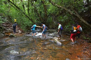 Kudremukh, water stream crossing