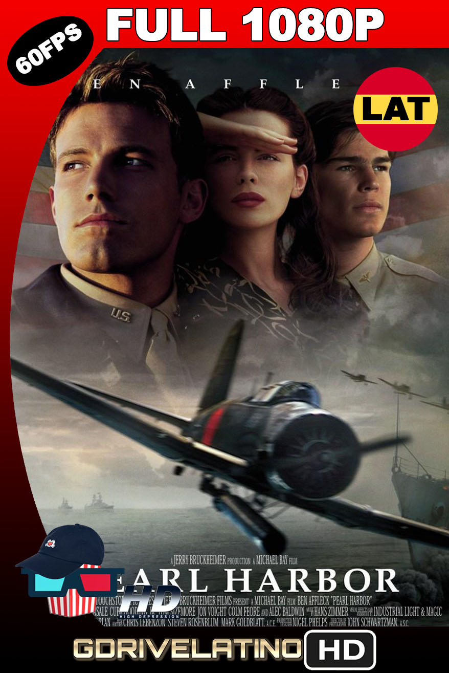 Pearl Harbor (2001) BDRip FULL 1080p (60FPS) Latino-Inglés MKV