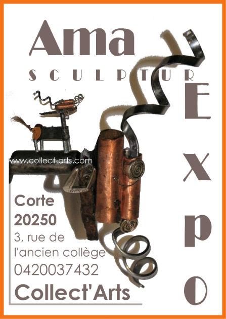 Exposition Ama sculpteur Galerie Collect'Arts