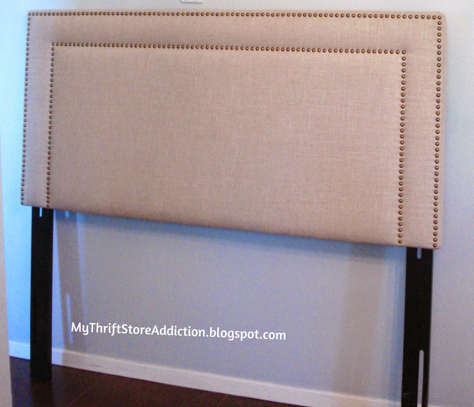 Thrift store upholstered headboard