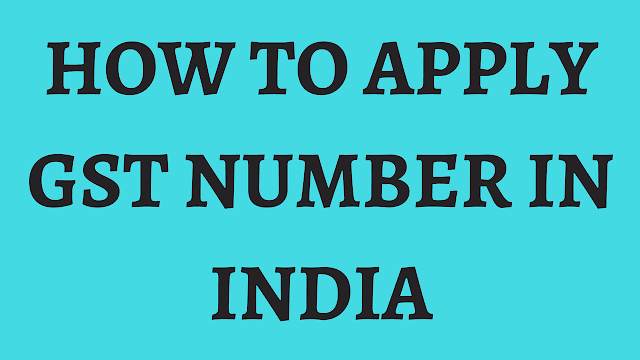 how to apply for gst number in india